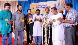 Prof. M. Balasubhramanyam, Principal, Chembai Music College lighting the ceremonial lamp