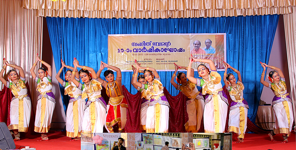 Students perform on stage