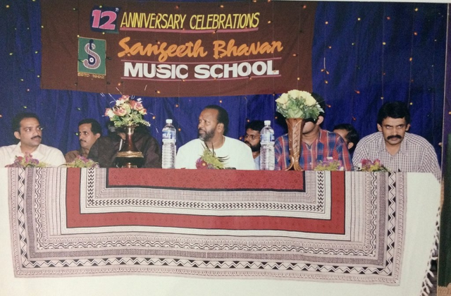 Music director Vidyadharan Master on stage