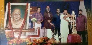 Vidyadharan Master, Stephen Devassy and A. Anantha Padmanabhan on stage